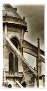 Flying Buttress At Notre Dame Hand Towel