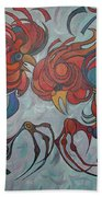 Flying Feathers Hand Towel