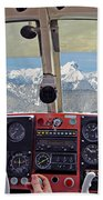 Flying Over North Cascades Bath Towel
