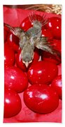 Flying Over Red Eggs Bath Towel
