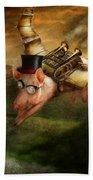Flying Pig - Steampunk - The Flying Swine Bath Towel