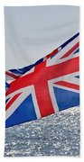 Flying The British Flag Bath Towel