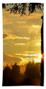 Backyard Sunset Bath Towel