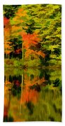 Foliage In New Hampshire Bath Towel