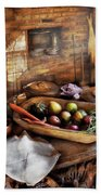 Food - The Start Of A Healthy Meal  Bath Towel