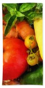 Food - Vegetable Medley Bath Towel