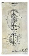 1925 Football Patent Drawing Bath Towel