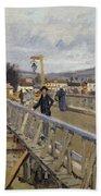 Footbridge At Argenteuil Bath Towel