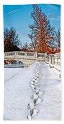 Footprints In The Snow - Sphere Bath Towel