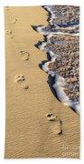Footprints On Beach Bath Towel