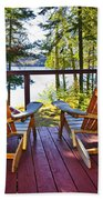 Forest Cottage Deck And Chairs Bath Towel