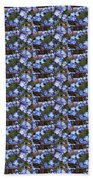 Forget Me Not Flowers Bath Towel