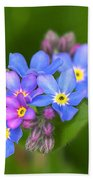Forget-me-not Stylized Bath Towel