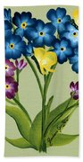 Forget Me Nots And Butterflies Bath Towel