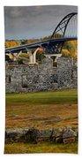 Fort Crown Point At Lake Champlain Bath Towel