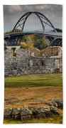 Fort Crown Point Panorama Bath Towel