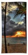Fort Lauderdale Beach Florida - Sunrise Bath Towel