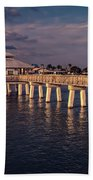 Fort Myers Beach Fishing Pier Bath Towel