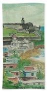 Fort San Felipe Del Morro From Fort San Cristobal Pr Bath Sheet