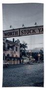 Fort Worth Stockyards Bw Bath Towel
