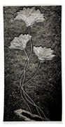 Fossilized Flowers Bath Towel