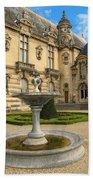 Fountain At Chateau De Chantilly Bath Towel