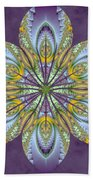 Fractal Blossom Bath Towel by Derek Gedney