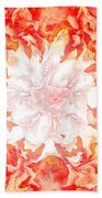 Fractal Carnation Bath Towel