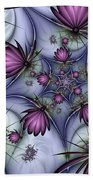 Fractal Fantasy Butterflies Bath Towel