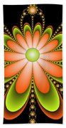 Fractal Floral Decorations Bath Towel