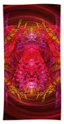 Fractal - Insect - Jeweled Scarab Bath Towel
