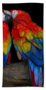 Fractal Parrots Bath Towel