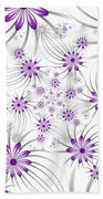 Fractal Purple Flowers Bath Towel