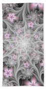 Fractal Soft Flowers Bath Towel
