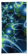 Fractal Time Travel Bath Towel