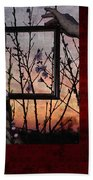 Framed Cherry Blossoms - Featured In Comfortable Art And Nature Groups Bath Towel