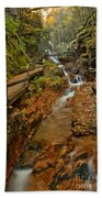Franconia Notch Lush Greens And Rushing Waters Bath Towel
