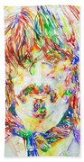 Frank Zappa Watercolor Portrait.1 Bath Towel