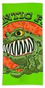Frantic Frog Bath Towel