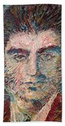 Franz Kafka Oil Portrait Bath Towel