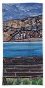 Fraser River British Columbia Bath Towel