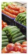 Frash Fruit And Vegetables Bath Towel