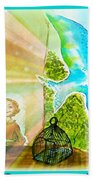 Free Spirit Dreamscape - Within Border Bath Towel