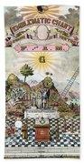 Freemason Emblematic Chart Bath Towel