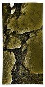 Freeway Pole Art Sailor-pole Art Photo Series Black Gold Bath Sheet