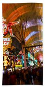 Fremont Street Experience Lights Bath Towel