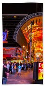 Fremont Street Lights 2 Bath Towel