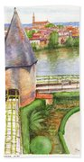 French Battlement Tower Bath Towel