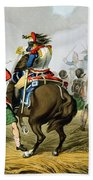 French Cuirassiers At The Battle Bath Towel