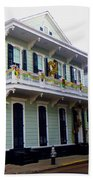 French Quarter Architecture Bath Towel